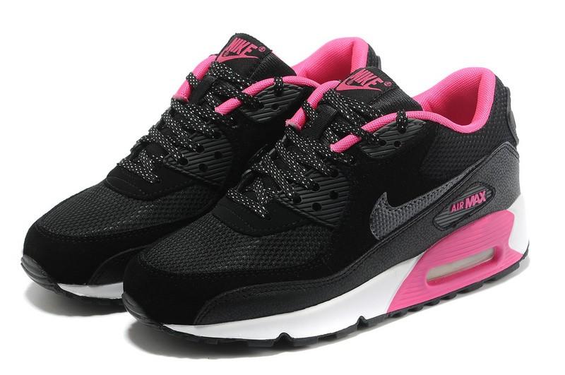 air max 90 fille noir et rose