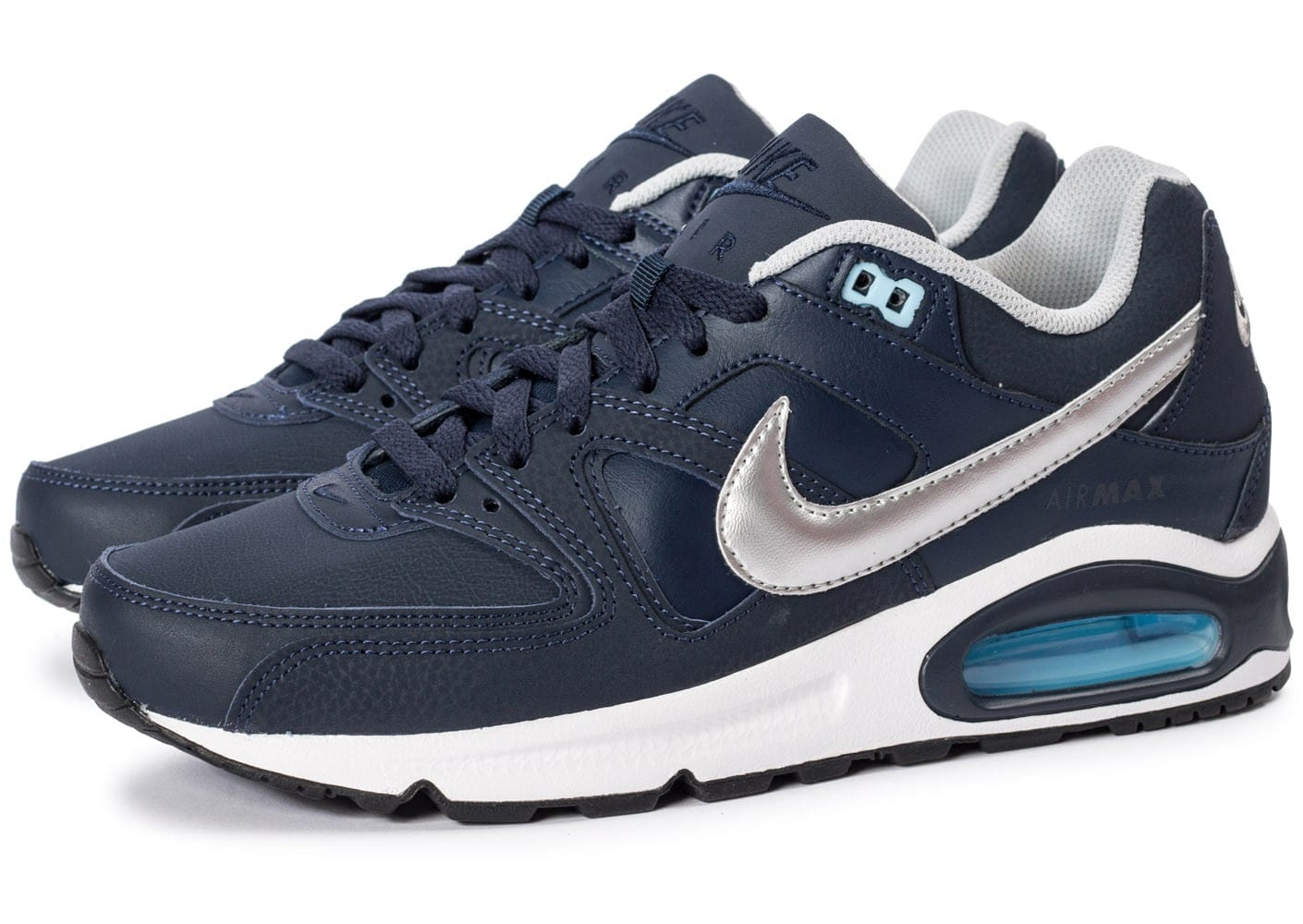 air max command leather homme bleu
